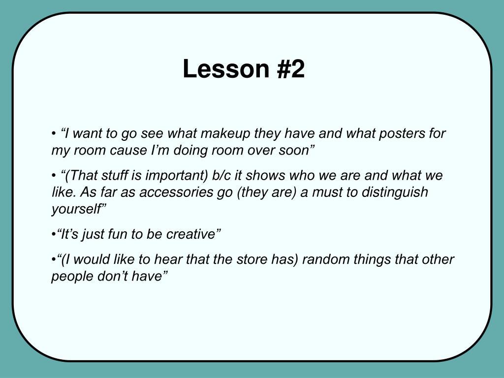 Lesson #2