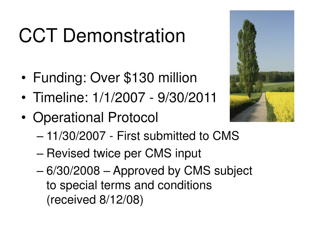 CCT Demonstration