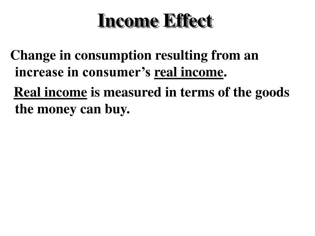 Income Effect