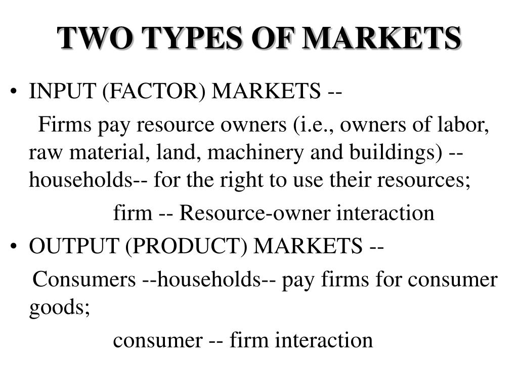 TWO TYPES OF MARKETS