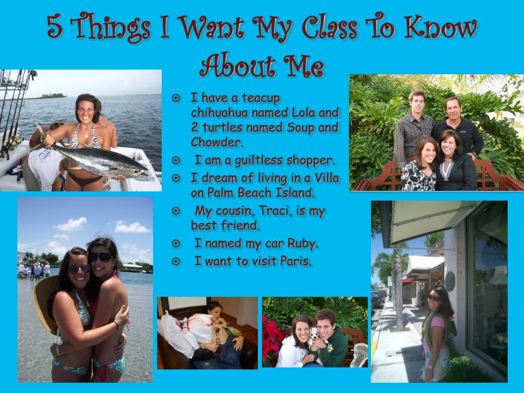 5 Things I Want My Class To Know About Me