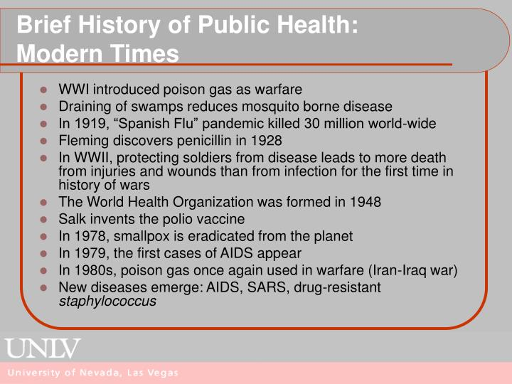 Brief History of Public Health:
