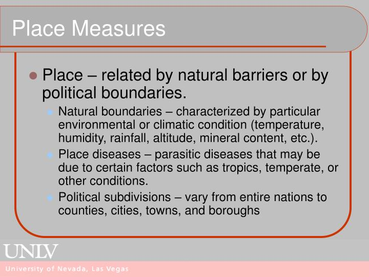 Place Measures