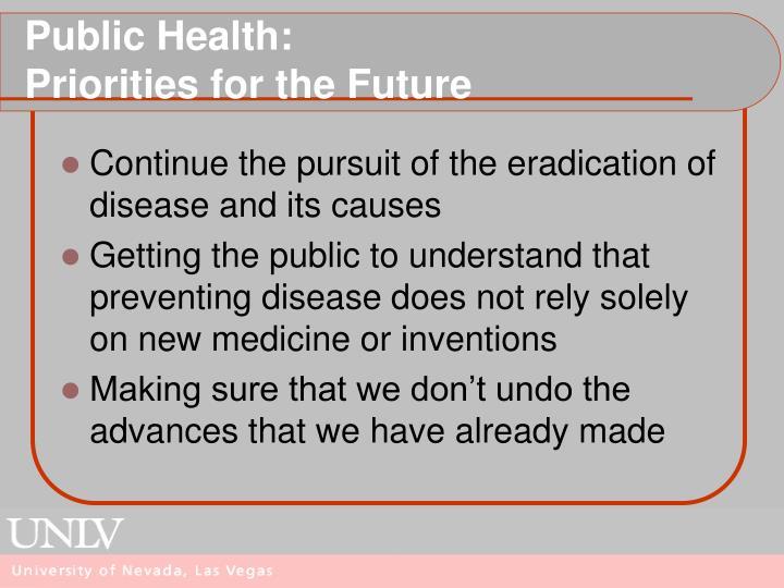 Public Health: