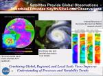 satellites provide global observations suborbital provides key in situ local observations