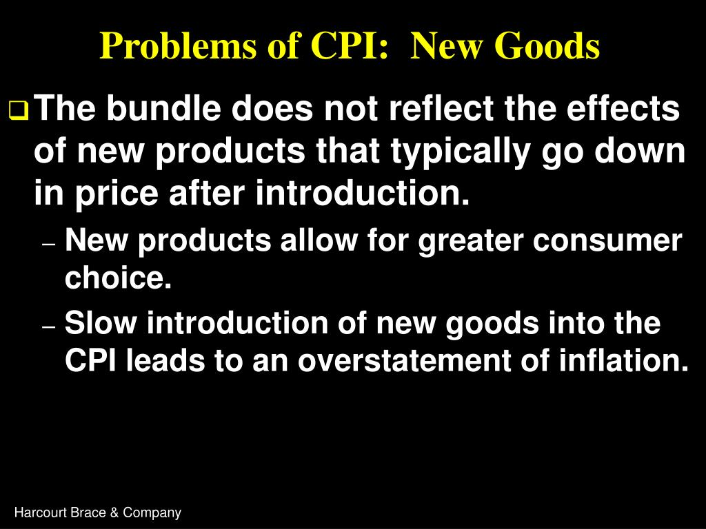 Problems of CPI:  New Goods