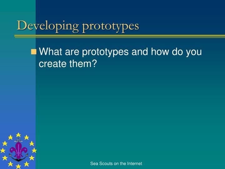 Developing prototypes