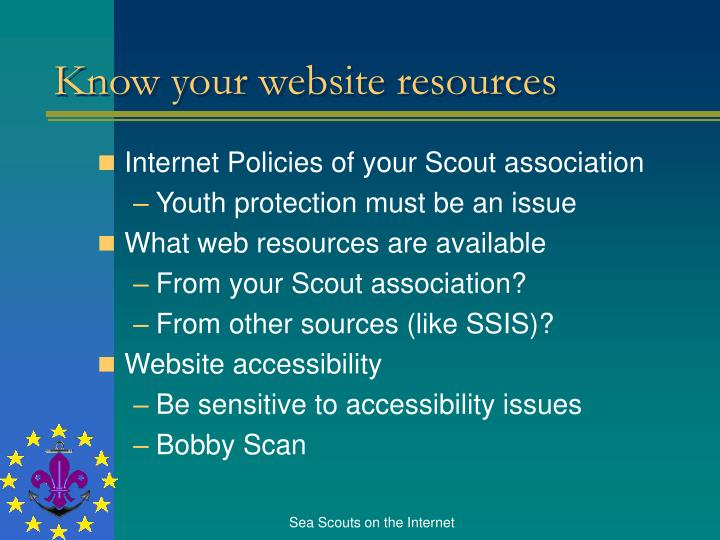 Know your website resources