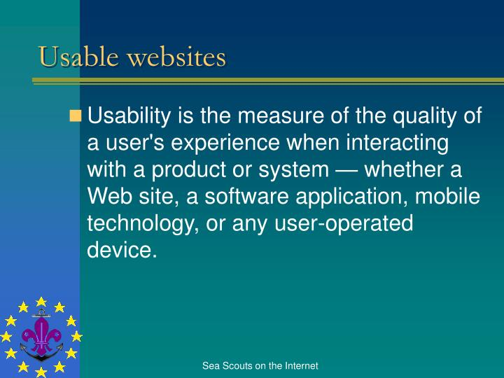 Usable websites