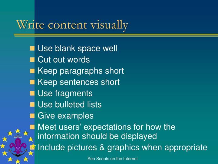 Write content visually