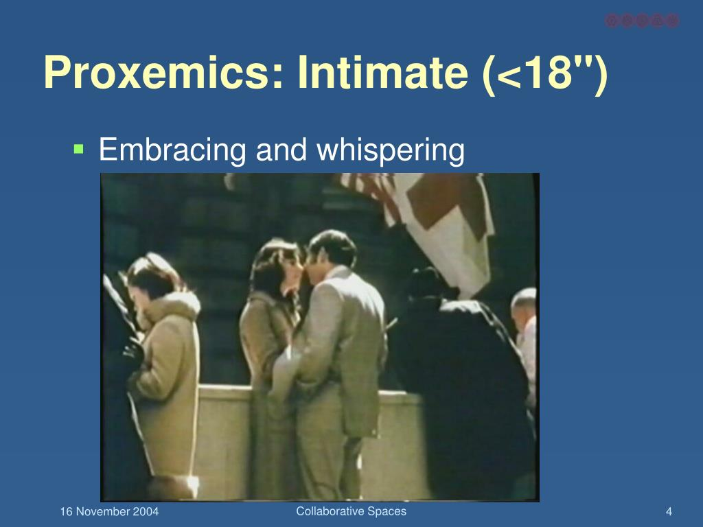 "Proxemics: Intimate (<18"")"