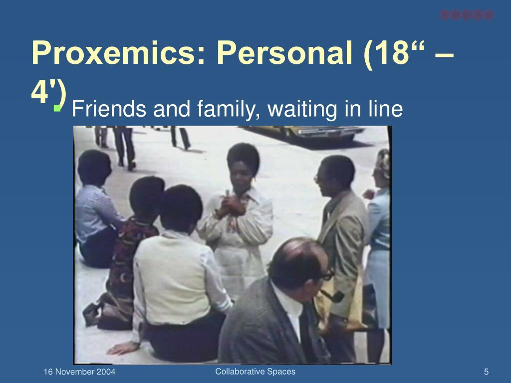 "Proxemics: Personal (18"" – 4')"