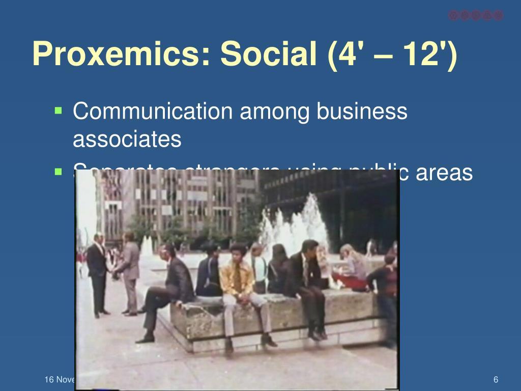 Proxemics: Social (4' – 12')
