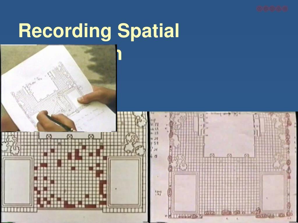 Recording Spatial Information
