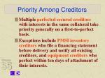 priority among creditors9