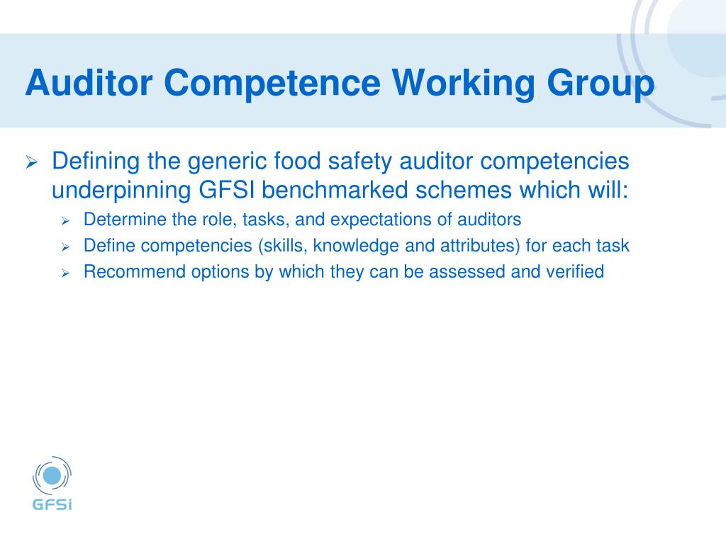 Auditor Competence Working Group