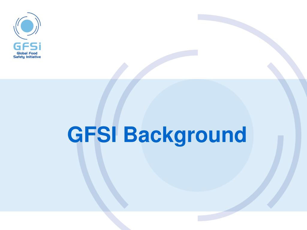 GFSI Background