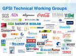 gfsi technical working groups