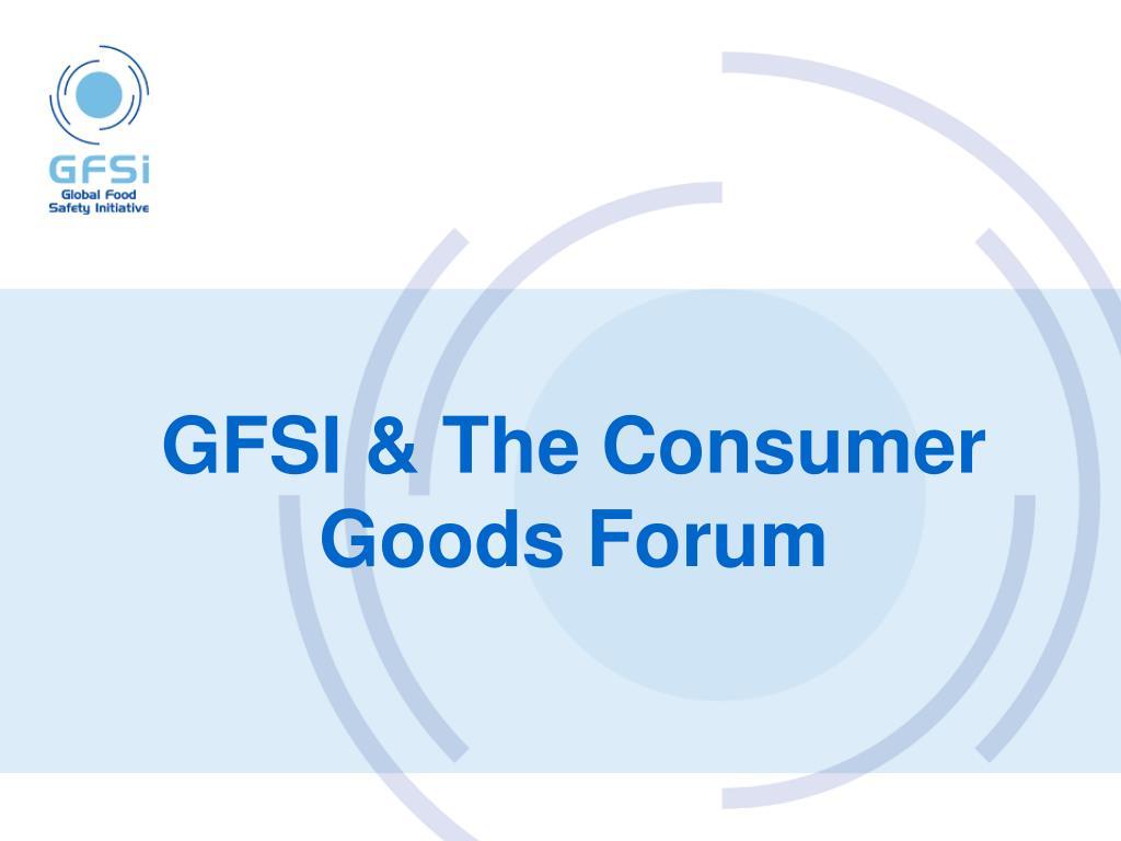 GFSI & The Consumer