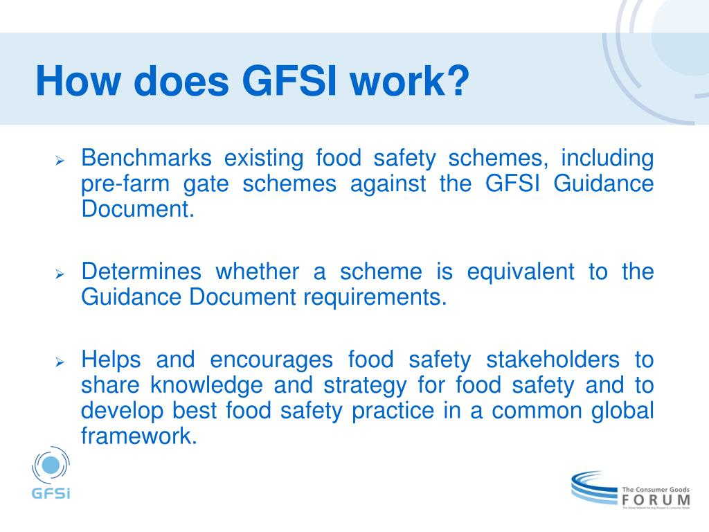 How does GFSI work?