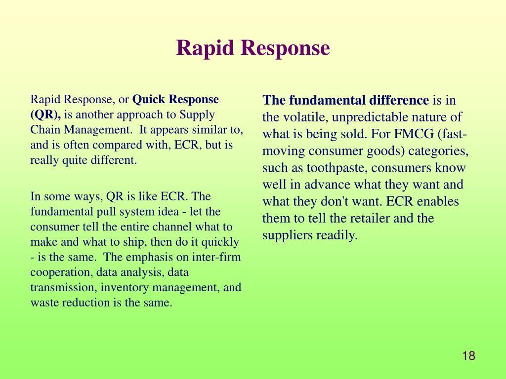 Rapid Response, or