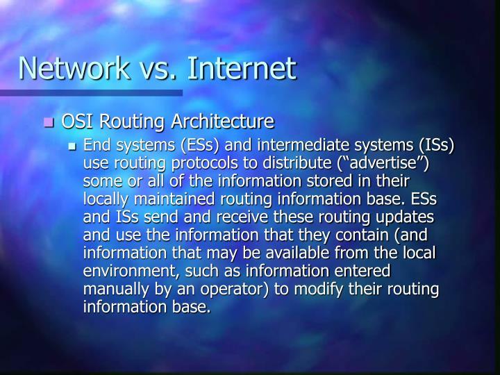 Network vs. Internet