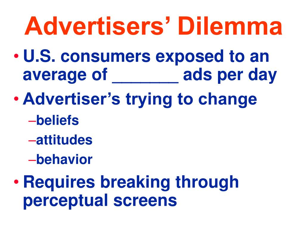 Advertisers' Dilemma
