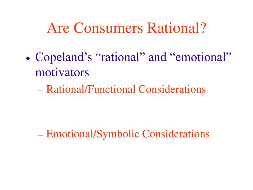 Are Consumers Rational?