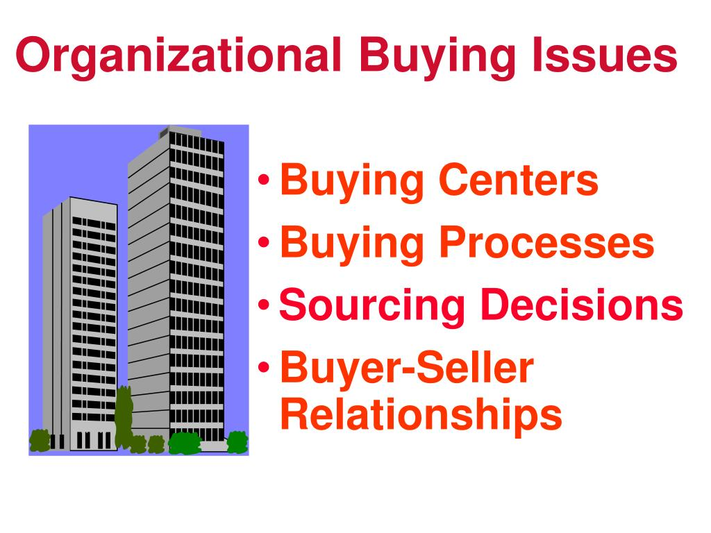 Organizational Buying Issues