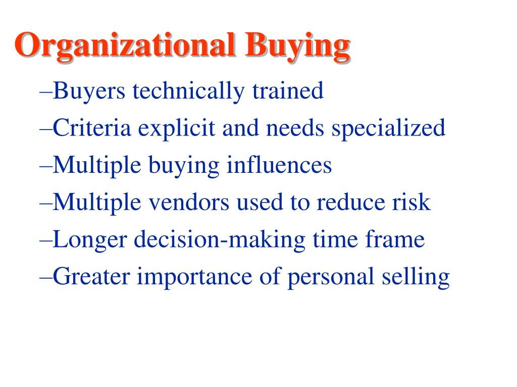 Organizational Buying
