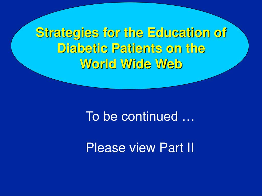 Strategies for the Education of Diabetic Patients on the