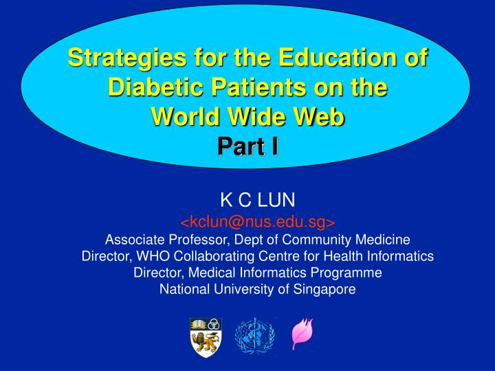 Strategies for the education of diabetic patients on the world wide web part i