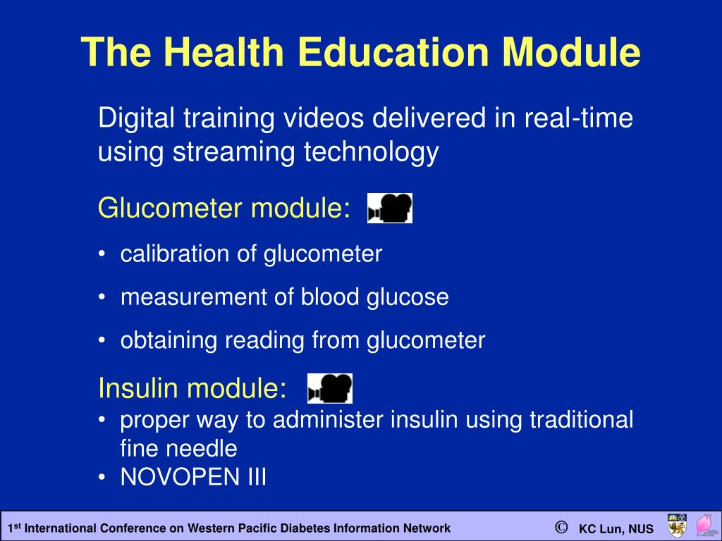 The Health Education Module