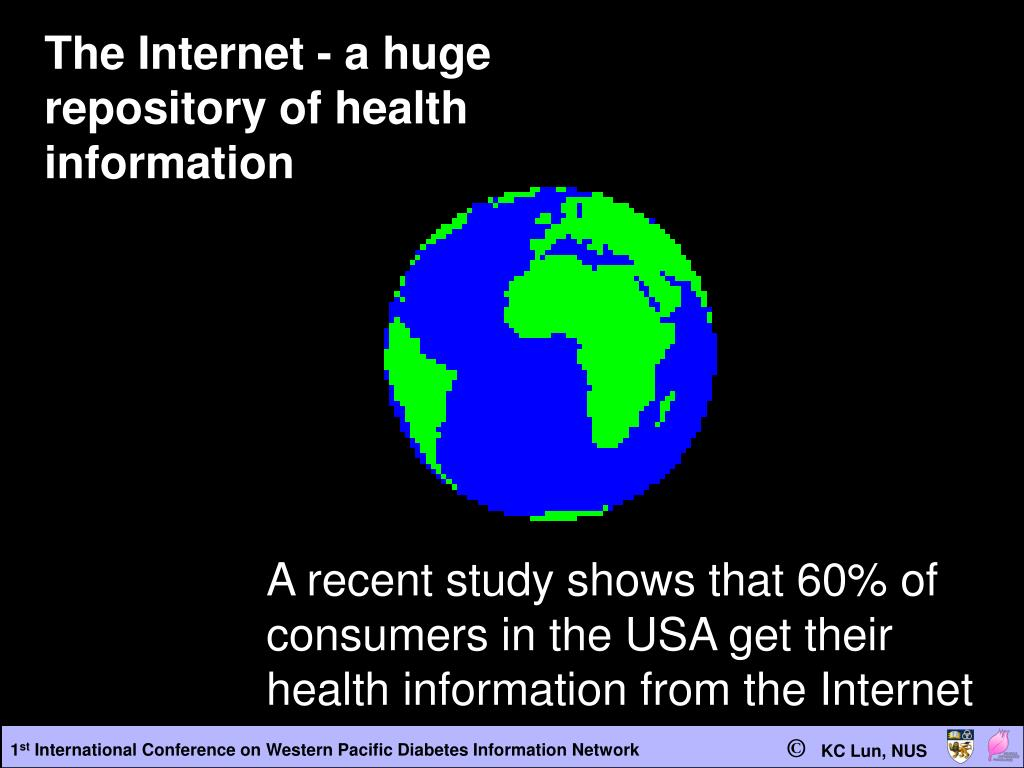 The Internet - a huge repository of health information