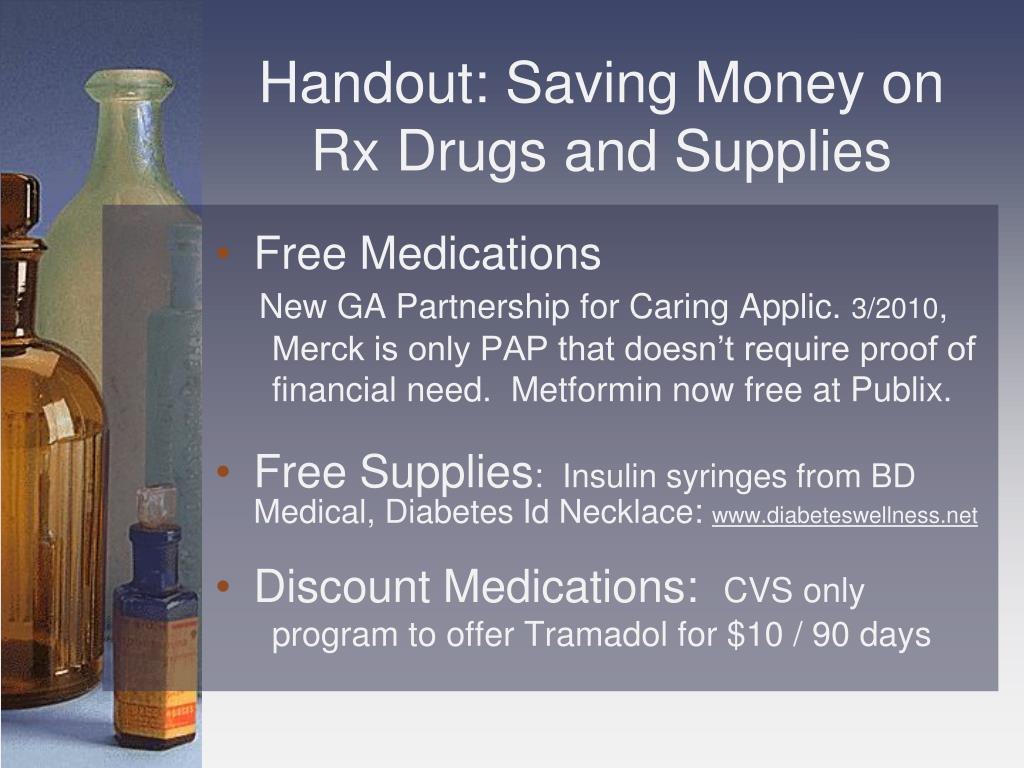 Handout: Saving Money on Rx Drugs and Supplies