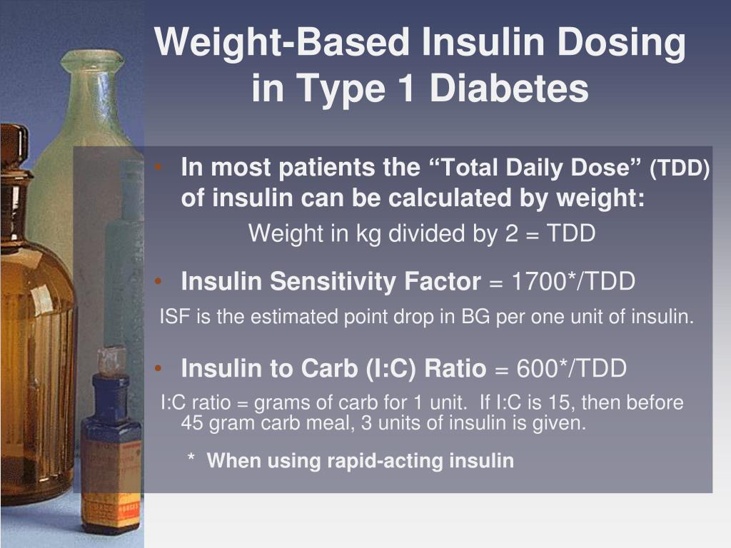Weight-Based Insulin Dosing