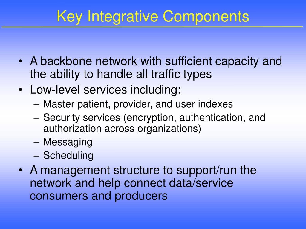Key Integrative Components