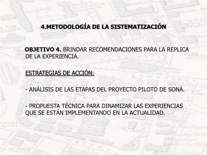 4.METODOLOGÍA DE LA SISTEMATIZACIÓN