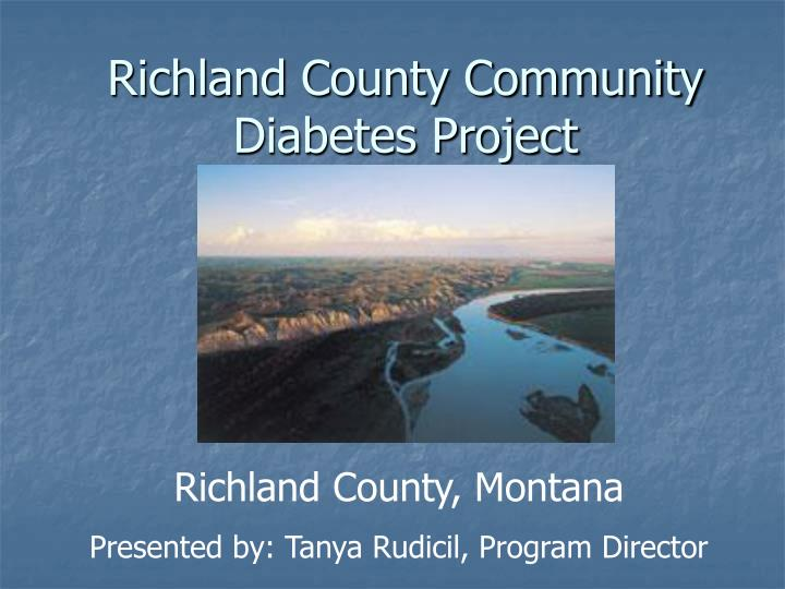 Richland county community diabetes project