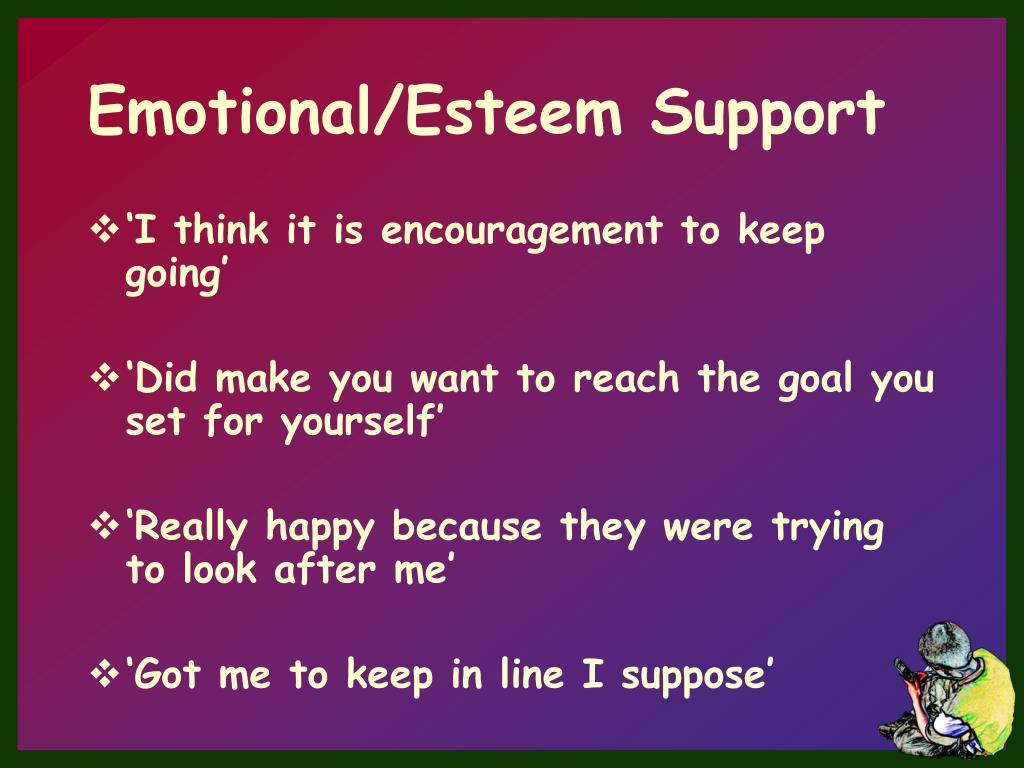 Emotional/Esteem Support