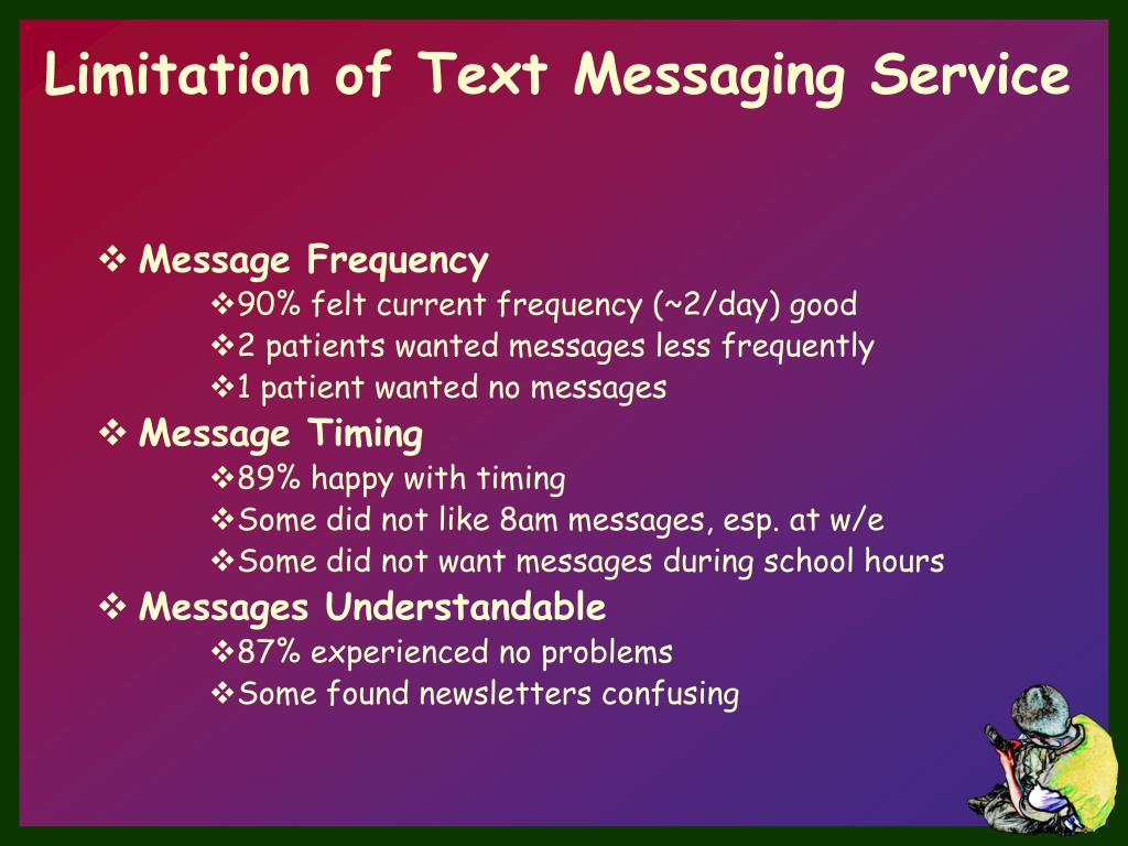 Limitation of Text Messaging Service