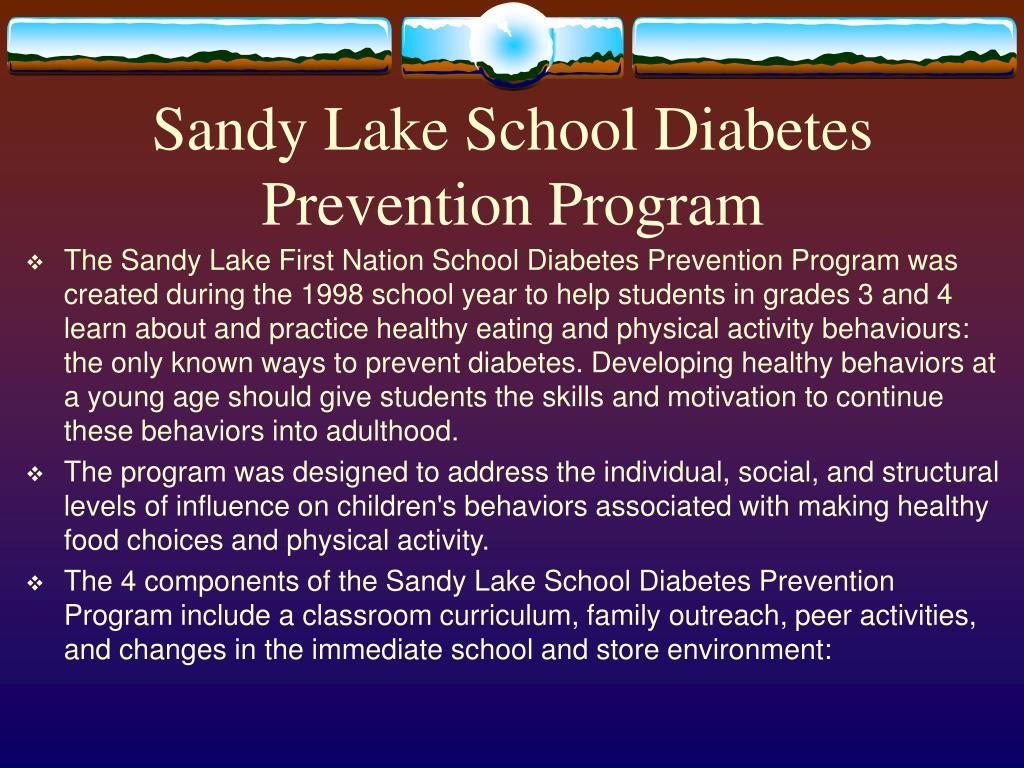 Sandy Lake School Diabetes Prevention Program