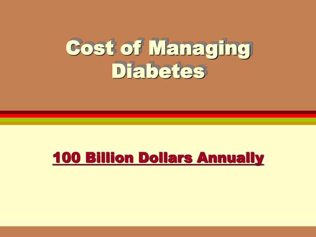 Cost of Managing Diabetes