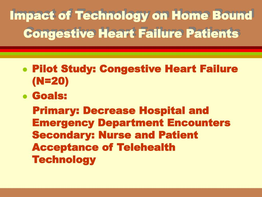 Impact of Technology on Home Bound Congestive Heart Failure Patients
