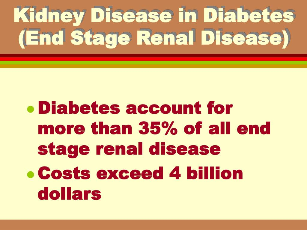 Kidney Disease in Diabetes