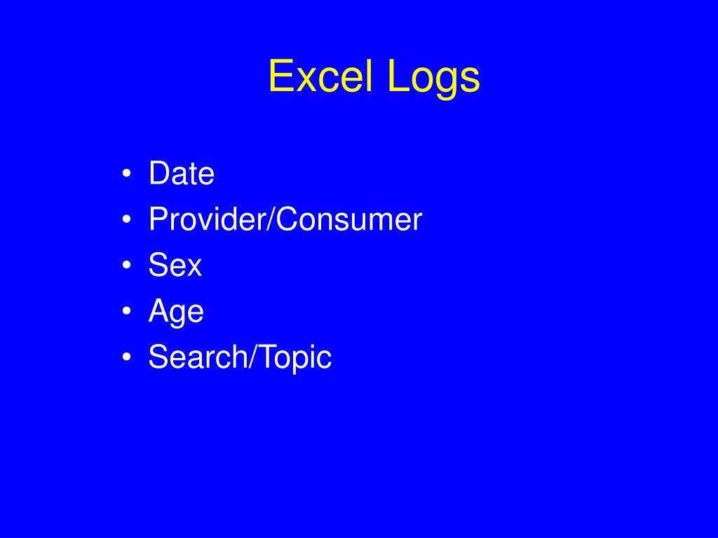 Excel Logs