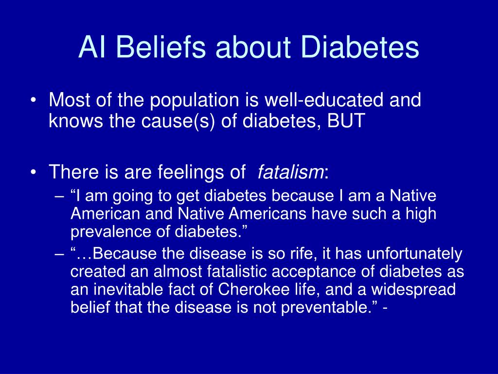 AI Beliefs about Diabetes