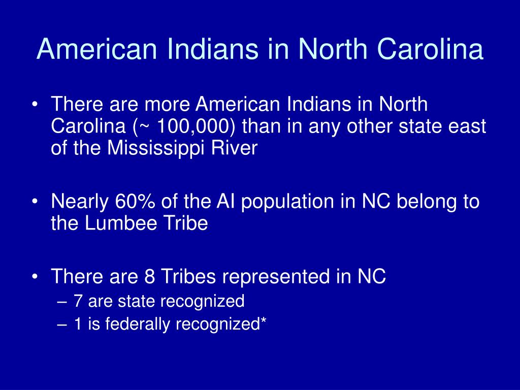 American Indians in North Carolina