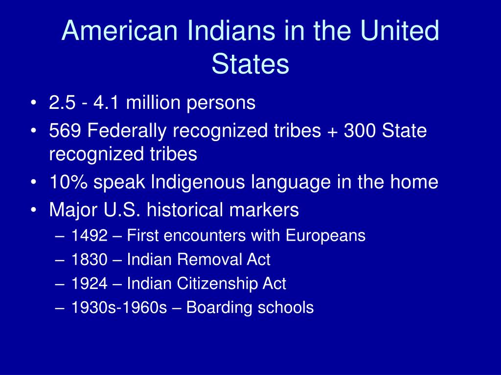 American Indians in the United States
