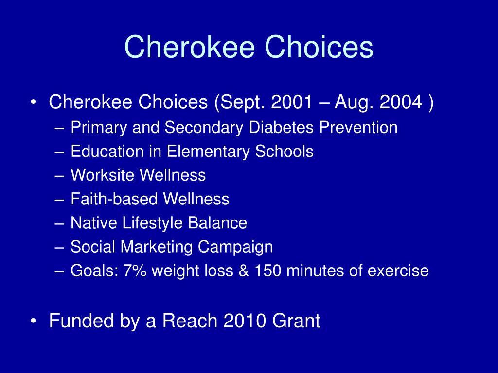 Cherokee Choices
